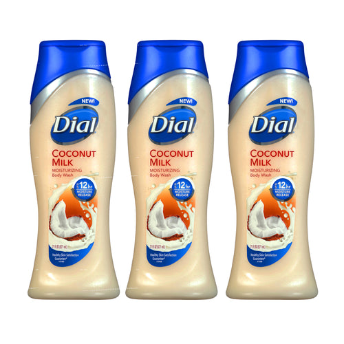 "Dial Moisturizing Body Wash 16 oz 473 ml ""3-PACK"""
