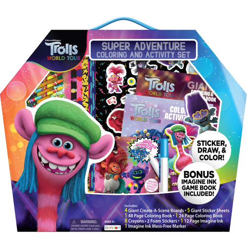 Trolls World Tour Super Adventure Coloring and Activity Set