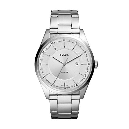 Fossil Men's 'Mathis' Quartz Stainless Steel Casual Watch Silver (FS5424)