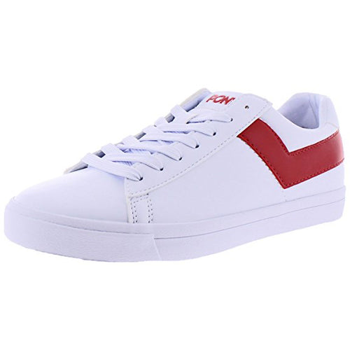 Pony Top Star Men's Retro Fashion Court Sneakers Shoes White/Red (410452-05W)