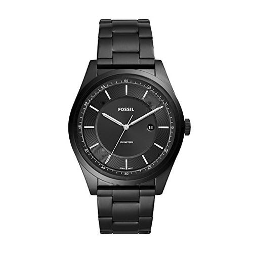 Fossil Men's Mathis Quartz Stainless Steel Casual Watch Black ( FS5425)
