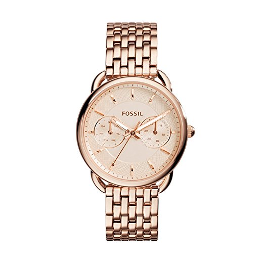 Fossil Women's Tailor Multifunction Rose Gold Stainless Steel Watch (ES3713)