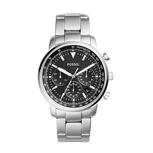Fossil Men's Goodwin Quartz Stainless Steel Casual Watch Silver (FS5412)