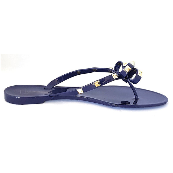 Victoria Adames Valencia Royal Blue Jelly Women Sandals