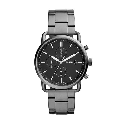 Fossil Men's 'The Commuter' Quartz Stainless Steel Casual Watch Grey (FS5400)