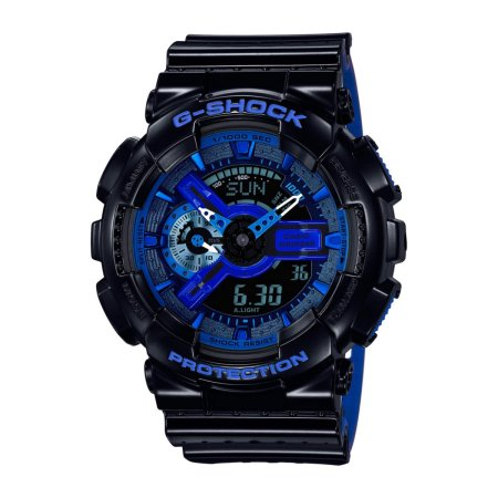 Casio G-Shock Military Perf Band Black / Blue (GA-110LPA-1A)