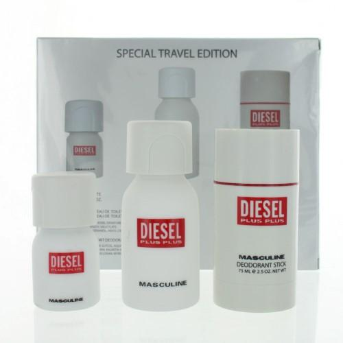 Diesel Plus Plus By Diesel 3 Piece Gift Set 2.5 oz EDT Men