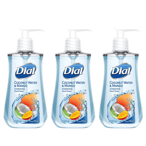 "Dial Hand Soap Coconut Water & Mango 7.5 oz ""3-PACK"""