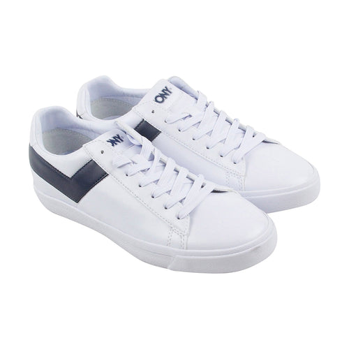 Pony Top Star Men's Retro Fashion Court Sneakers Shoes White/Navy (410452-06W)