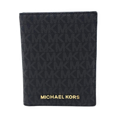 Michael Kors Jet Set Travel Passport Case Black PVC (35T9GTVT1B)