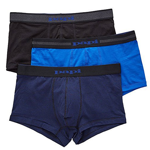 Papi Men's 3 Pack Cotton Stretch Pencil Stripe Brazilian Trunk (980533-968)