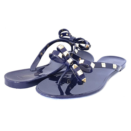Victoria Adames Valencia Navy Jelly Women Sandals