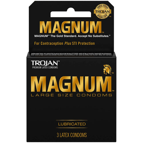 "Trojan Magnum Large Size Lubricated Condoms ""6-PACK"""