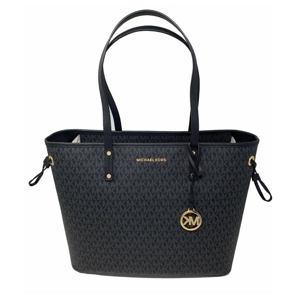 Michael Kors Jet Set Travel Large Tote Black/Black (35T9GTVT9V)