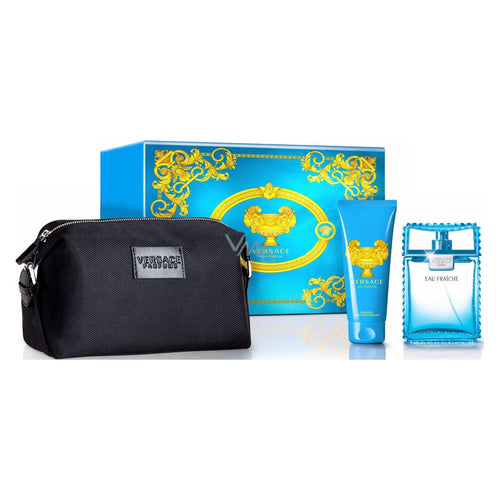 Gianni Versace Man Eau Fraiche 3 PC Gift Set EDT 3.4 oz