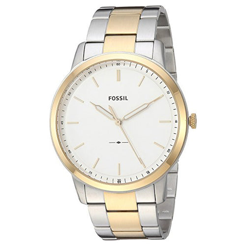 Fossil Men's 'The Minimalist 3H' Quartz Stainless Steel Casual Watch Silver (FS5441)