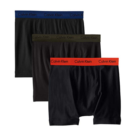 Calvin Klein Men's Underwear Cotton Classics 4-Pack Briefs Blue Assorted (U4000-962) LARGE