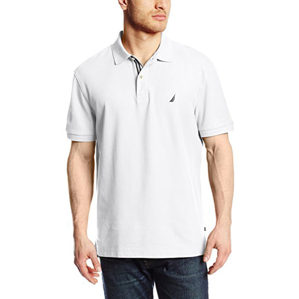Nautica Men's Short Sleeve Solid Deck Polo Shirt (K41050)