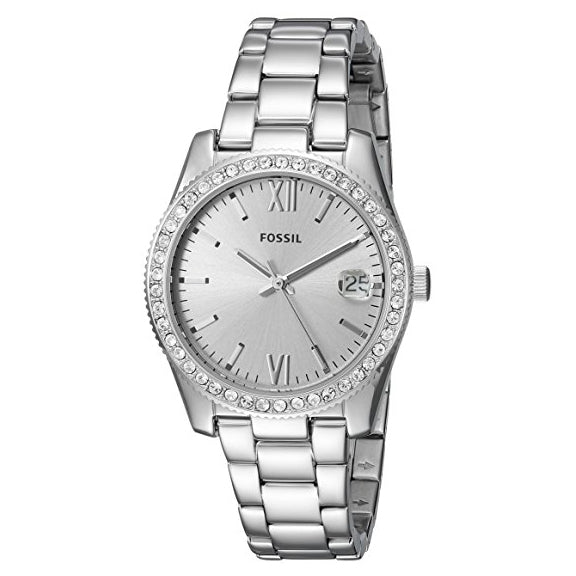 Fossil Women's Scarlette Quartz Stainless Steel Casual Watch Silver (ES4317)