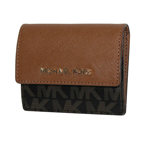 Michael Kors Women's Jet Set Travel Card Case ID holder Printed Leather (35F7GTVD6V)