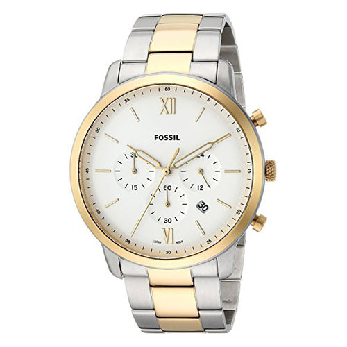 Fossil Men's Neutra Chrono Quartz Stainless Steel Casual Watch Silver (FS5385)