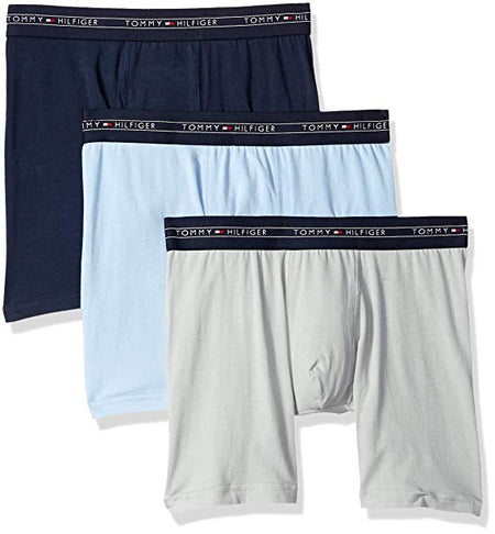 "Polo Ralph Lauren Classic Fit Cotton Long Leg Boxer Brief (RCLBP3-PBD) Black ""3-PACK"""