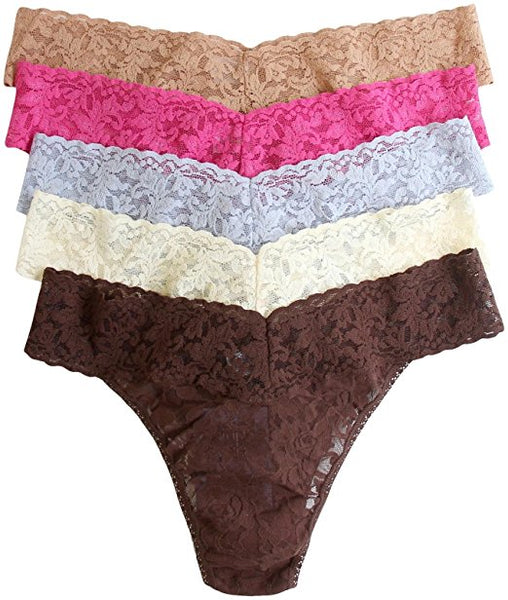 Hanky Panky Women's Low Rise Thong 5 Pack (4911F)