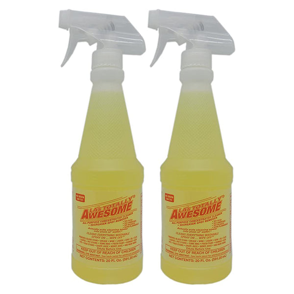"LA's Totally Awesome All Purpose Cleaner Degreaser Spot Remover 20 oz ""2-PACK"""