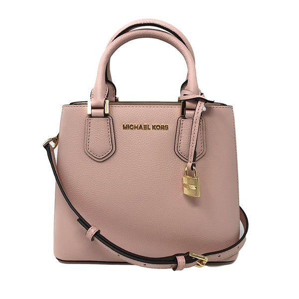 a595b35425c6e8 Michael Kors Adele MD Leather Messenger Bag Blossom/Ballet (35T8GAFM2L –  Rafaelos