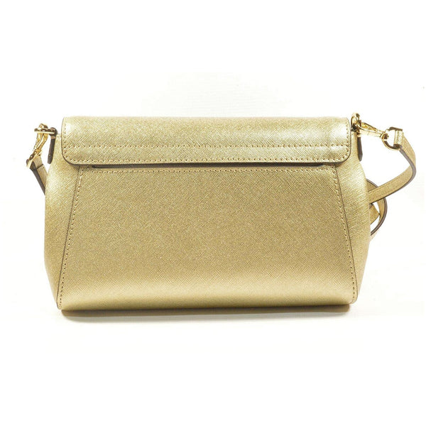 Michael Kors Medium Convertible Pouchtte Leather Crossbody Pale Gold (35T8MTTU6M)