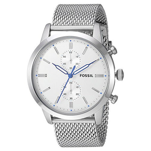 Fossil Men's Townsman Quartz Stainless Steel Casual Watch Silver (FS5435)