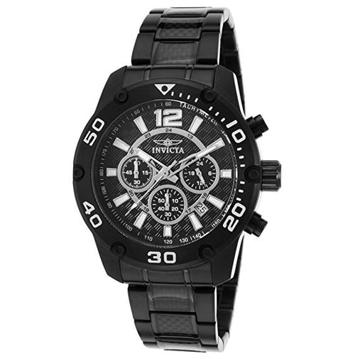 Invicta 21488 Men's Pro Diver Chrono Black Ip Stainless Steel And Dial Watch (21488)