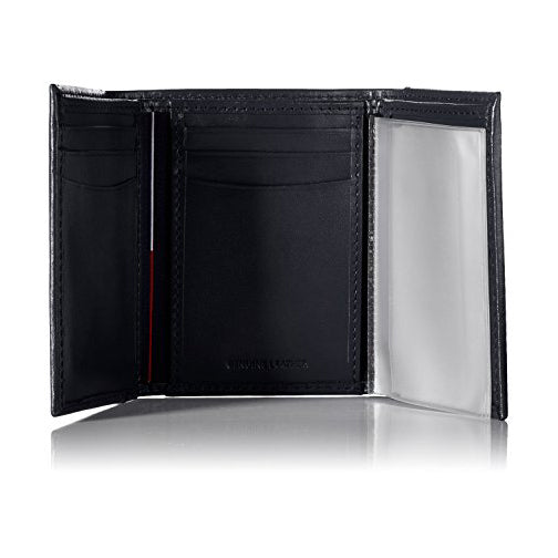 Tommy Hilfiger Men's Leather Cambridge Trifold Wallet Navy (31TL11X033)