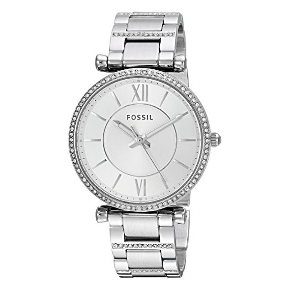 Fossil Women's Carlie Quartz Stainless Steel Casual Watch Silver (ES4341)