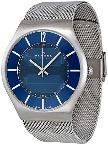 Skagen Men's 833XLSSN1 Denmark Blue Dial Watch (833XLSSN1)