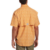Columbia Super Bahama Short Sleeve Shirt (Campfire, Redfish Scales) (FM7190-843)