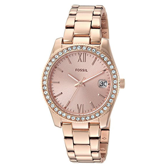 Fossil Women's Scarlette Quartz Stainless Steel Casual Watch Rose Gold (ES4318)