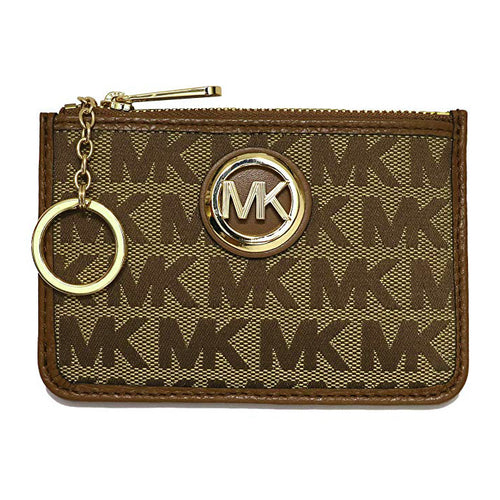 Michael Kors Fulton Coin Case Wallet Small Mini MK Logo (35H9GFTU1J)