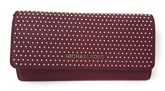 Michael Kors Jet Set MIcro Stud Saffiano Leather Convertible Chain Wallet (35F7SD7C7L)