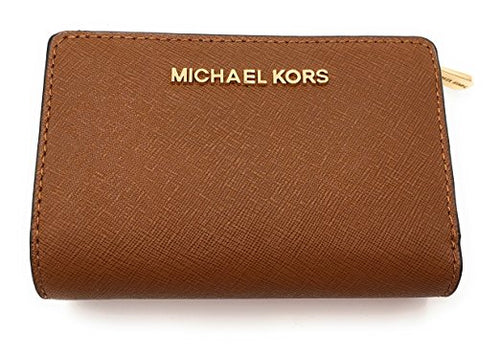 Michael Kors Jet Set Travel Bifold Zip Coin Wallet Luggage (35F7GTVF2L)