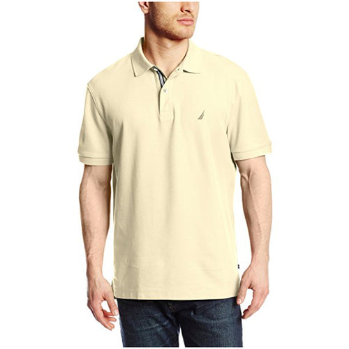 Nautica Men's Standard Classic Short Sleeve Solid Polo Shirt (K41050)