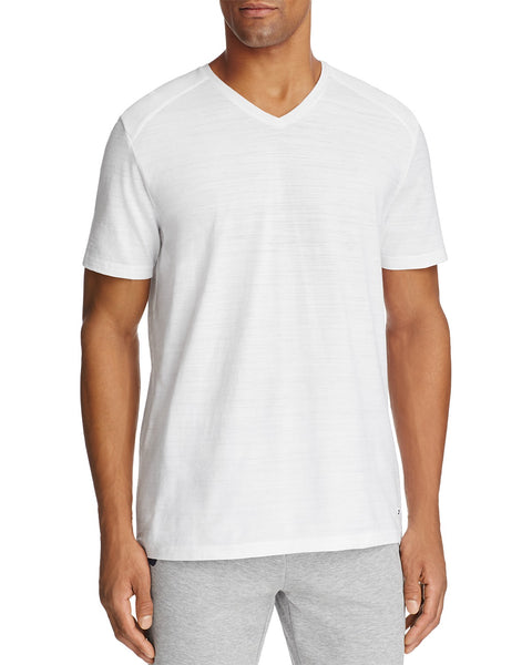 Boss Hugo Boss Green Eraldo Ribbed Shoulder V-Neck Tee