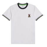 Psycho Bunny Men's Holloway Ringer Tee White
