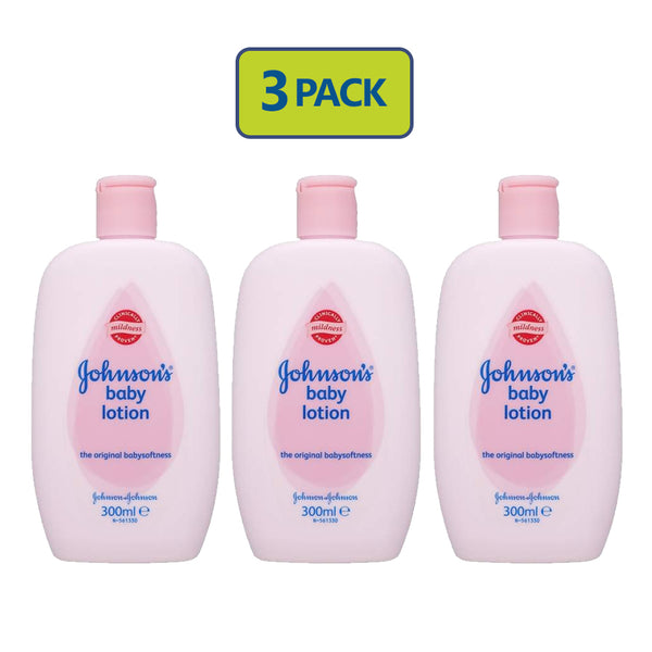 "Johnson's Baby Lotion (500 ml) (300 ml) ""3-PACK"""