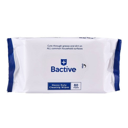 Zuru Bactive Heavy Duty Cleansing Wipes  80ct