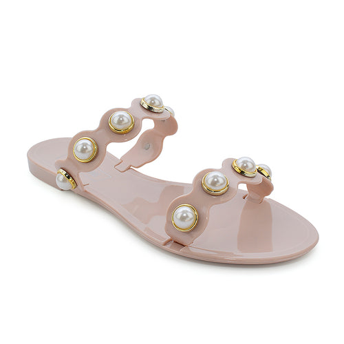 Victoria Adames Barcelona Nude Jelly Sandals
