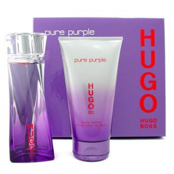 Hugo Boss Pure Purple Gift Set EDP 3.0 oz 90 ml + Body Lotion 5.0 oz