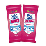 Wet Ones Big Ones Antibacterial Hand Wipes Travel Pack, Fresh, 28 Ct (2 pack)