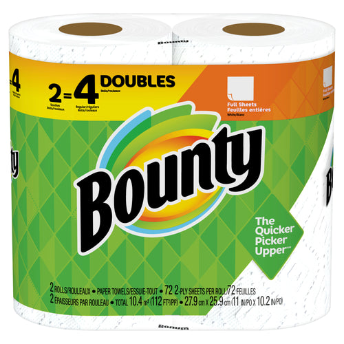 Bounty Paper Towels Prints 2=4 Double Rolls