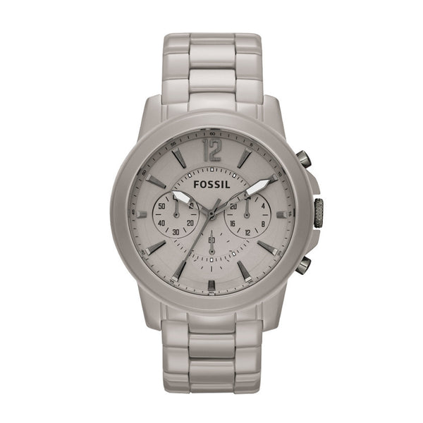 581e1202c Fossil CE5017 Grant Ceramic Stone Grey Men's Watch – Rafaelos